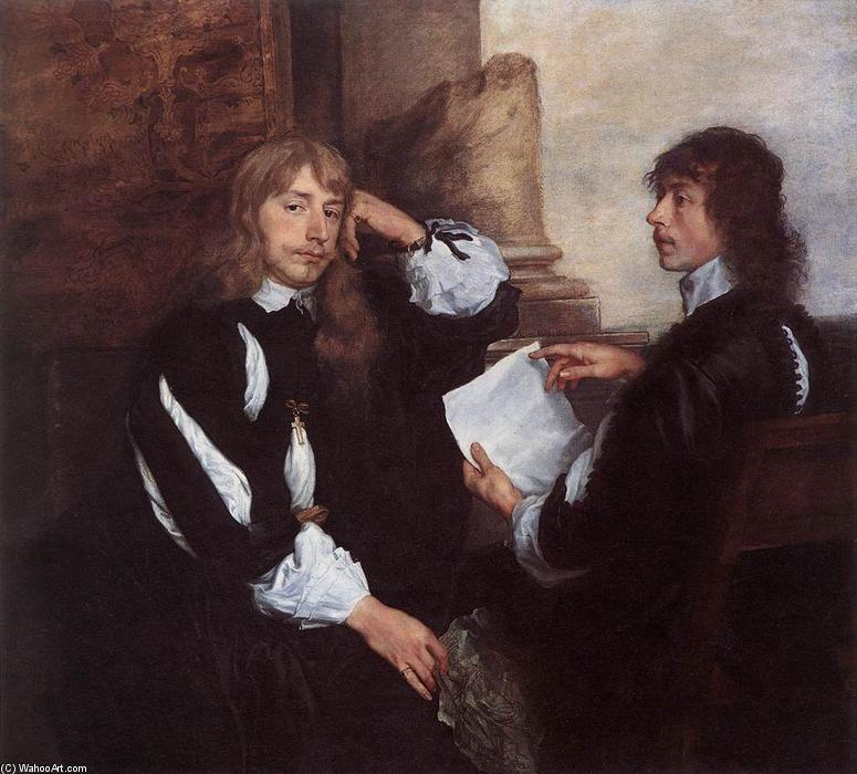 Wikioo.org - The Encyclopedia of Fine Arts - Painting, Artwork by Anthony Van Dyck - Thomas Killigrew and (?) William, Lord Croft