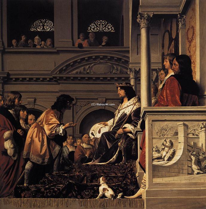 Wikioo.org - The Encyclopedia of Fine Arts - Painting, Artwork by Caesar Van Everdingen (Cesar Pietersz) - Count Willem II of Holland Granting Privileges