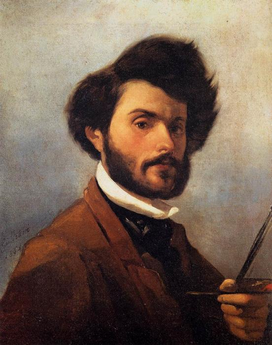 Wikioo.org - The Encyclopedia of Fine Arts - Painting, Artwork by Giovanni Fattori - Self-Porrtrait