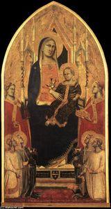 Madonna col Bambino in trono mediante angeli e le santi