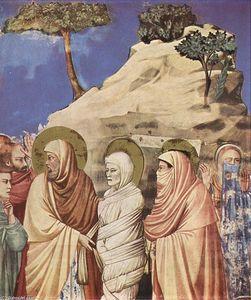 No . 25 scene dal vita di cristo : 9 . resurrezione di lazzaro ( particolare )