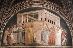 Scene da vita di san francesco : 2 . rinuncia ai beni mondani