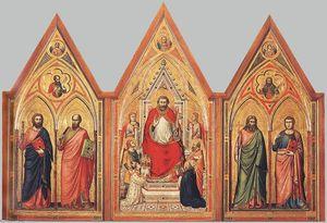 il trittico stefaneschi ( verso )