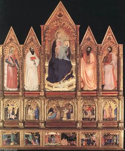 Polyptych with Madonna and Saints