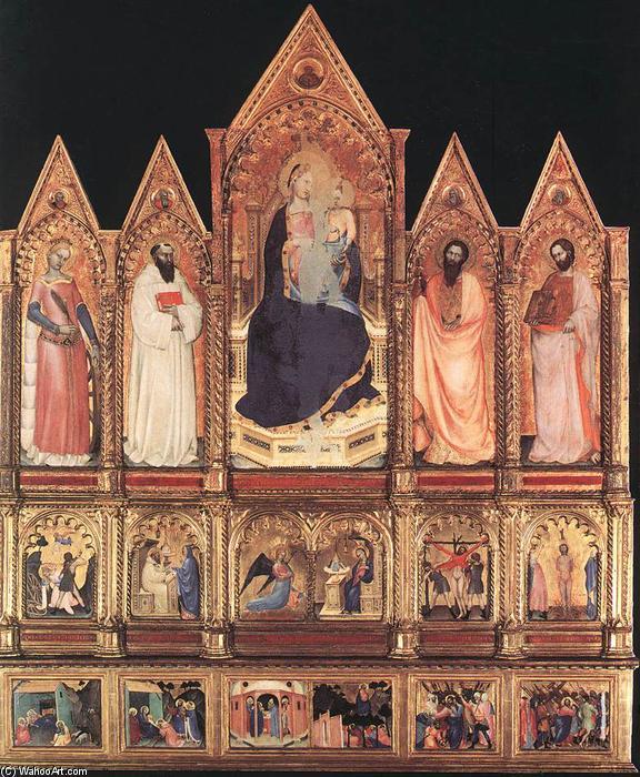 WikiOO.org - Enciklopedija dailės - Tapyba, meno kuriniai Giovanni Da Milano - Polyptych with Madonna and Saints