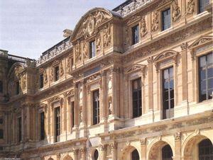 Façade of the Cour Carrée (wing Lescot)