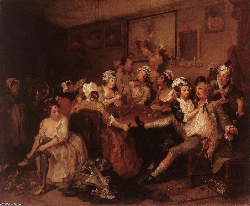 WikiOO.org - Enciklopedija dailės - Tapyba, meno kuriniai William Hogarth - The Orgy