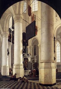 Interior of the Nieuwe Kerk, Delft, with the Tomb of William the Silent