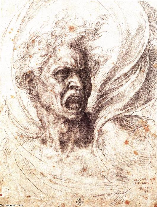 Wikioo.org - The Encyclopedia of Fine Arts - Painting, Artwork by Michelangelo Buonarroti - The Damned Soul