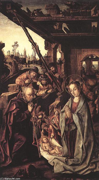 Wikioo.org - The Encyclopedia of Fine Arts - Painting, Artwork by Rodrigo De Osona - The Adoration of the Shepherds