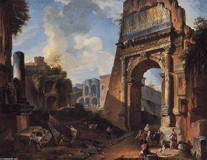 Ideal Landscape with the Titus Arch