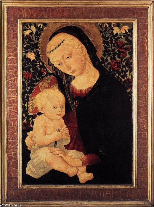 Wikioo.org - The Encyclopedia of Fine Arts - Painting, Artwork by Pseudo Pier Francesco Fiorentino - Madonna and Child with a Goldfinch