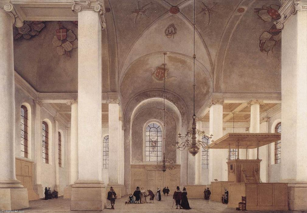 Wikioo.org - The Encyclopedia of Fine Arts - Painting, Artwork by Pieter Jansz Saenredam - Interior of the Church of St Anne in Haarlem
