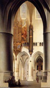 Interior of the Sint-Bavokerk in Haarlem