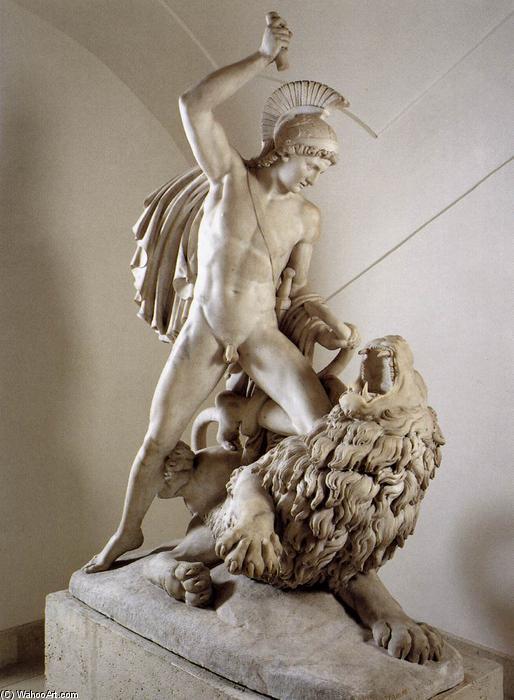 Wikioo.org - The Encyclopedia of Fine Arts - Painting, Artwork by Johann Nepomuk Schaller - Bellerophon Fighting the Chimaera