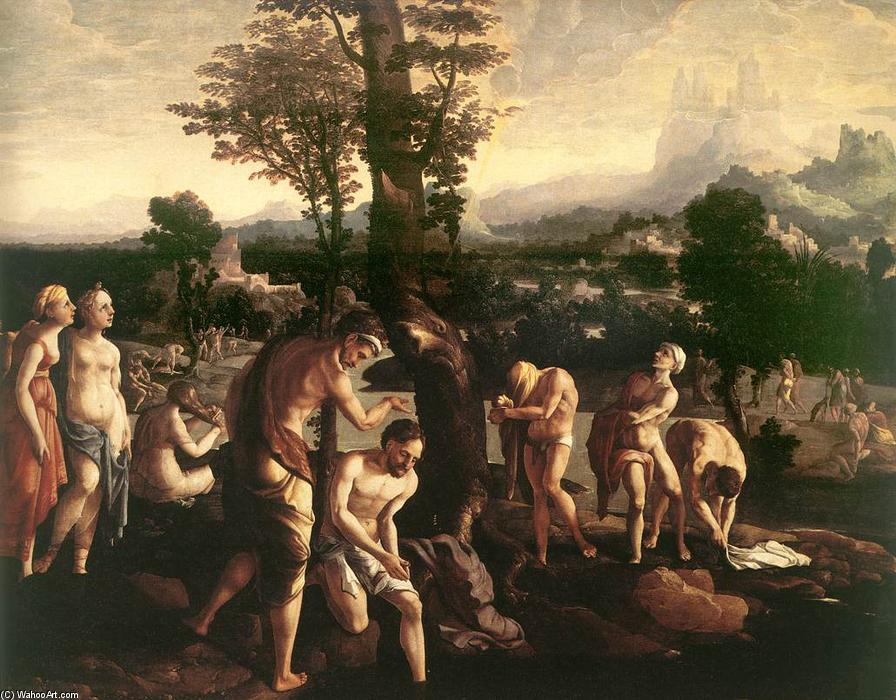 Wikioo.org - The Encyclopedia of Fine Arts - Painting, Artwork by Jan Van Scorel - The Baptism of Christ
