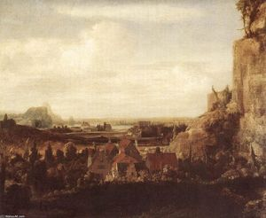 A River Valley with a Group of Houses