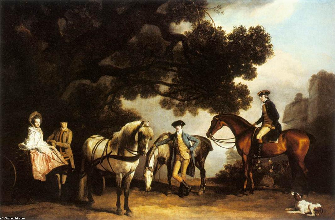 Wikioo.org - The Encyclopedia of Fine Arts - Painting, Artwork by George Stubbs - The Milbanke and Melbourne Families