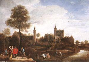 A View of Het Sterckshof near Antwerp