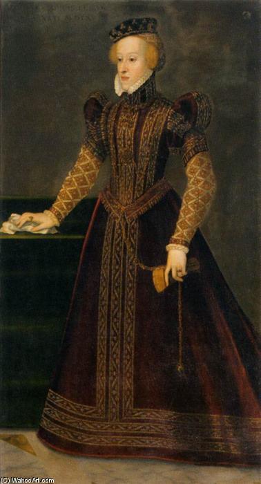 Wikioo.org - The Encyclopedia of Fine Arts - Painting, Artwork by Francesco Terzio - Archduchess Barbara