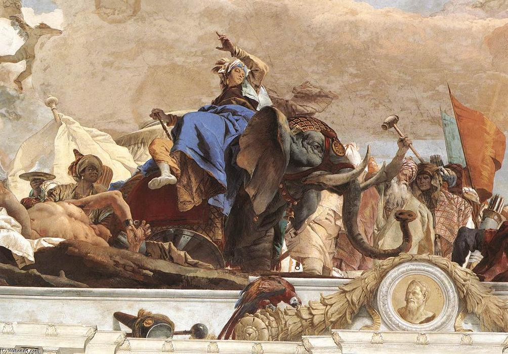 Wikioo.org - The Encyclopedia of Fine Arts - Painting, Artwork by Giovanni Battista Tiepolo - Apollo and the Continents (Asia, figure of Asia)