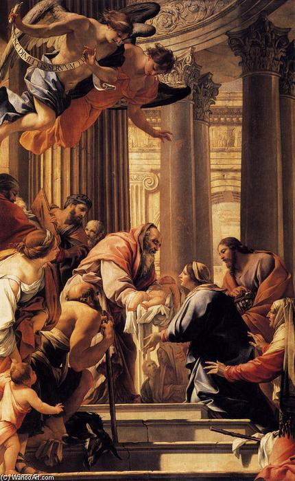 Wikioo.org - The Encyclopedia of Fine Arts - Painting, Artwork by Simon Vouet - Presentation in the Temple