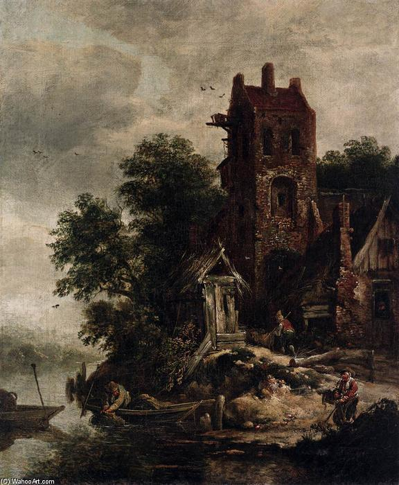 Wikioo.org - The Encyclopedia of Fine Arts - Painting, Artwork by Roelof Jansz Van Vries - The Pigeon House