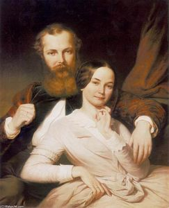 Composer Mihály Mosonyi and his Wife - Henrik Weber