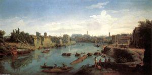 Rome, the Tiber near the Porto di Ripa Grande