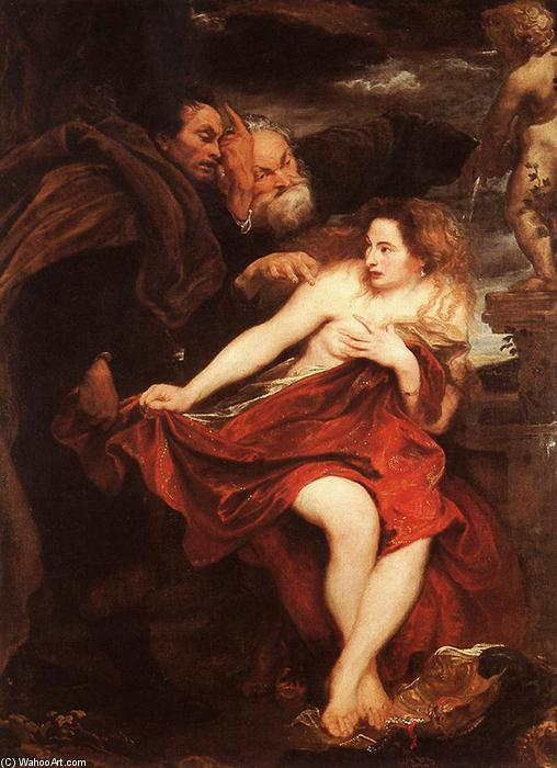 Wikioo.org - The Encyclopedia of Fine Arts - Painting, Artwork by Anthony Van Dyck - Susanna and the Elders