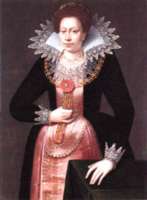 Wikioo.org - The Encyclopedia of Fine Arts - Painting, Artwork by Pieter Feddes Harlingensis - Portrait of a Lady