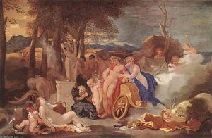 Bacchus y Ceres con las ninfas y los sátiros