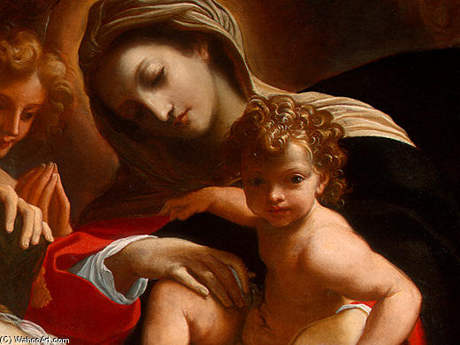 Wikioo.org - The Encyclopedia of Fine Arts - Painting, Artwork by Lodovico Carracci - The Dream of Saint Catherine of Alexandria (detail)