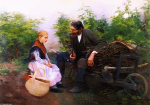 The Little Girl and the Gardener (also known as Taking a Rest)
