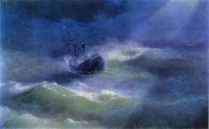 The Mary Caught in a Storm.