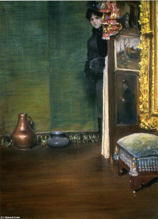 Wikioo.org - The Encyclopedia of Fine Arts - Painting, Artwork by William Merritt Chase - May I Come In?
