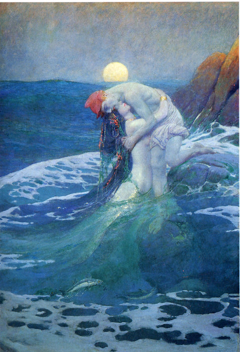 Wikioo.org - The Encyclopedia of Fine Arts - Painting, Artwork by Howard Pyle - The Mermaid