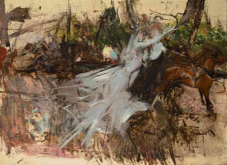 Wikioo.org - The Encyclopedia of Fine Arts - Painting, Artwork by Giovanni Boldini - A Midsummer Night's Dream