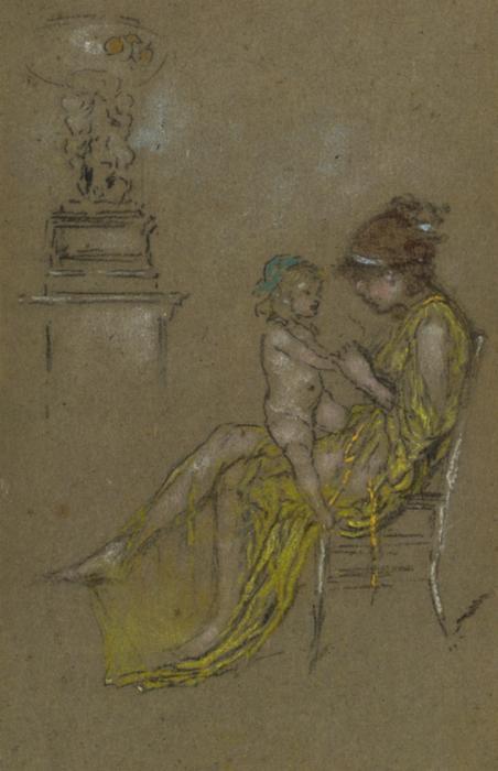 Wikioo.org - Bách khoa toàn thư về mỹ thuật - Vẽ tranh, Tác phẩm nghệ thuật James Abbott Mcneill Whistler - Mother and Child