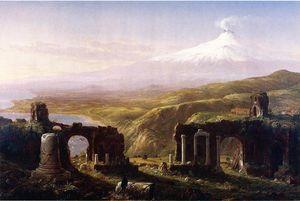 Mount Aetna from Taormina, Sicily