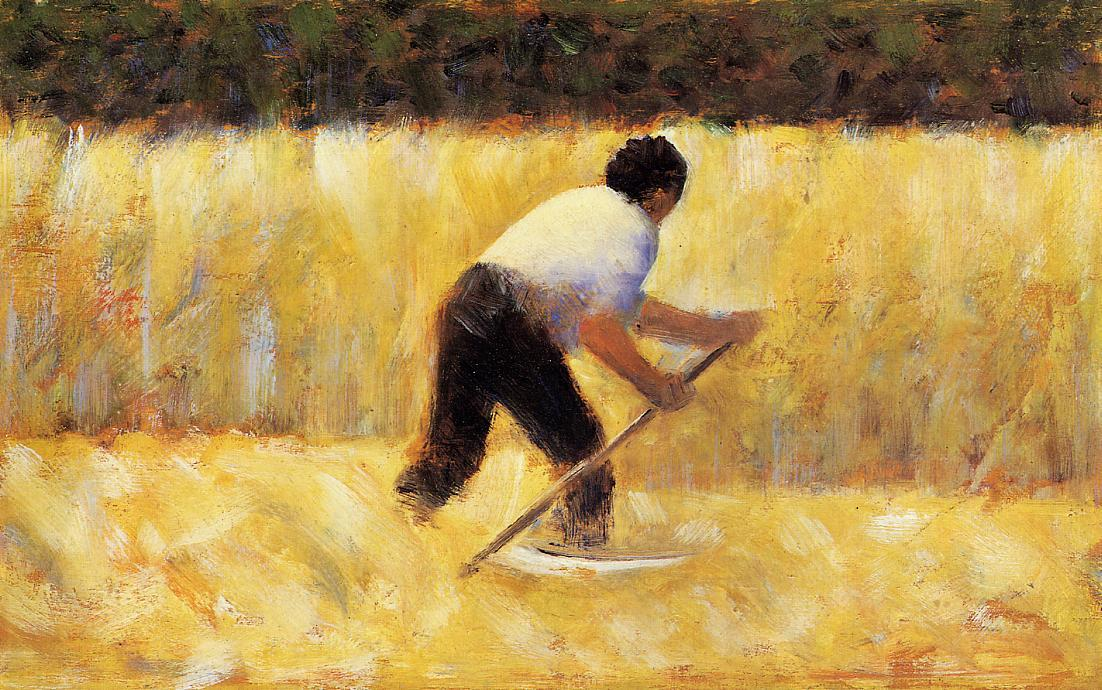 Wikioo.org - The Encyclopedia of Fine Arts - Painting, Artwork by Georges Pierre Seurat - The Mower