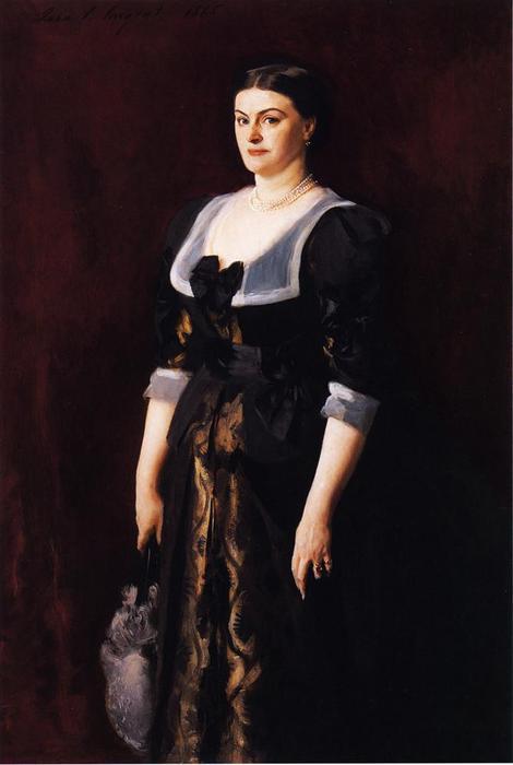 Wikioo.org – L'Enciclopedia delle Belle Arti - Pittura, Opere di John Singer Sargent - Sig ra . Alice Muratore