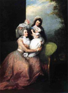 Mrs. John Barker Church (Angelica Schuyler), Son Philip and Servant