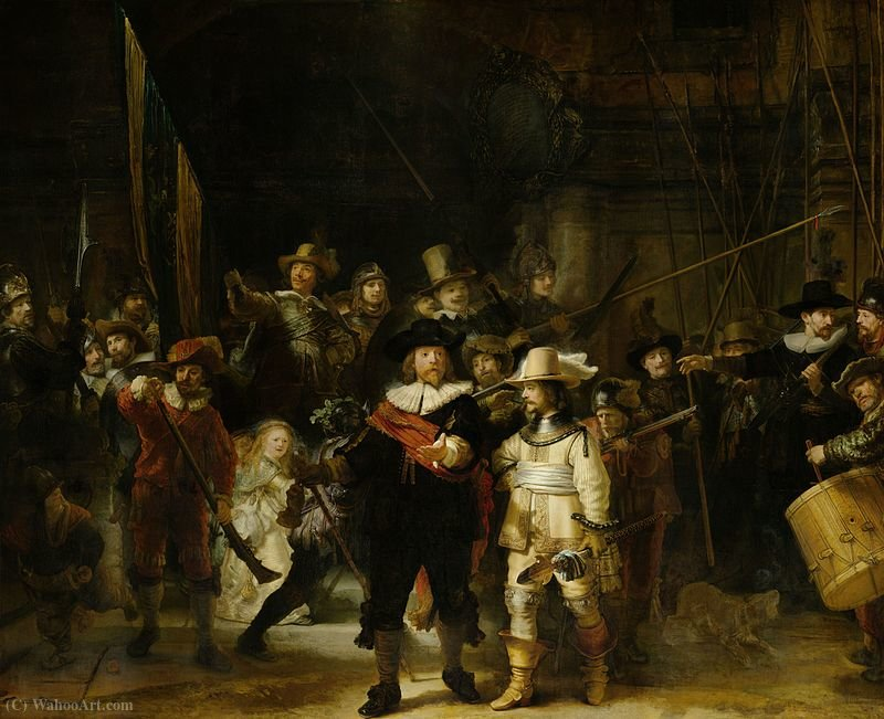 WikiOO.org - Encyclopedia of Fine Arts - Maleri, Artwork Rembrandt Van Rijn - Night Watch