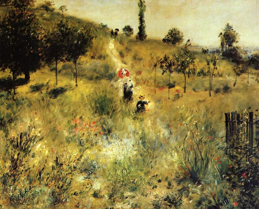 Wikioo.org - The Encyclopedia of Fine Arts - Painting, Artwork by Pierre-Auguste Renoir - Path Winding through the High Grass