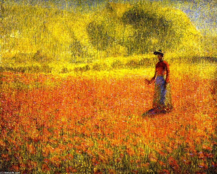 Wikioo.org - The Encyclopedia of Fine Arts - Painting, Artwork by Philip Leslie Hale - Poppies