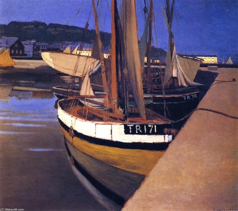 Wikioo.org - The Encyclopedia of Fine Arts - Painting, Artwork by Felix Vallotton - A Port