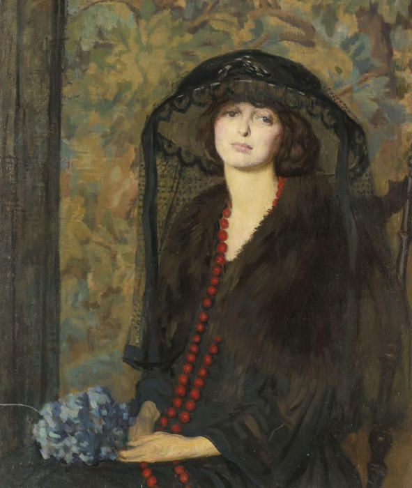 Wikioo.org - The Encyclopedia of Fine Arts - Painting, Artwork by Philip Leslie Hale - The Red Necklace