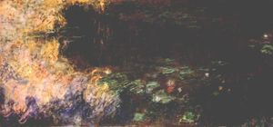 Reflections of Clouds on the Water-Lily Pond (tryptich, right panel)