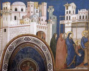 Ritorno di Cristo a gerusalemme ( Transetto settentrionale , bassa chiesa , san francesco , Assisi )